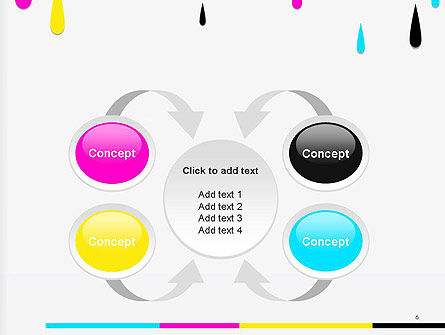 CMYK Ink Color Paint PowerPoint Template Slide 6