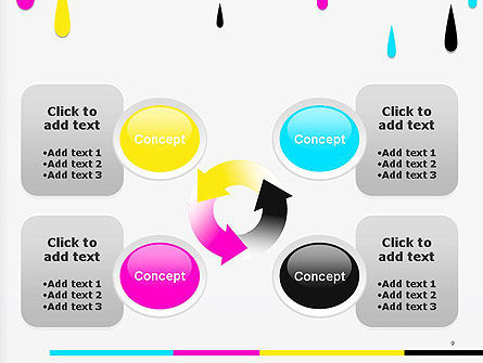 CMYK Ink Color Paint PowerPoint Template Slide 9
