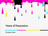 Careers/Industry: CMYK Ink Color Paint PowerPoint Template #14282