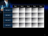 Businessman Pressing Virtual Buttons PowerPoint Template#15
