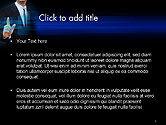 Businessman Pressing Virtual Buttons PowerPoint Template#2