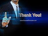 Businessman Pressing Virtual Buttons PowerPoint Template#20