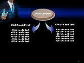 Businessman Pressing Virtual Buttons PowerPoint Template#4