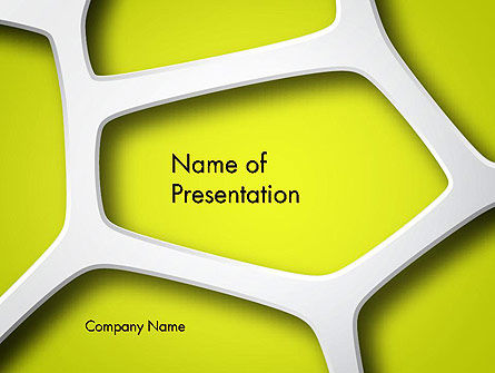 Organic Geometry PowerPoint Template, 14284, Nature & Environment — PoweredTemplate.com