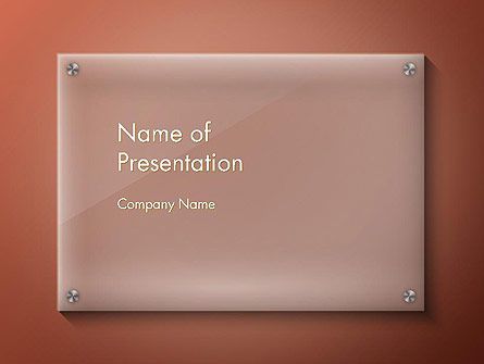 Nameboard Abstract PowerPoint Template, 14285, 3D — PoweredTemplate.com