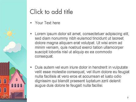 Town Illustration PowerPoint Template, Slide 3, 14286, Construction — PoweredTemplate.com