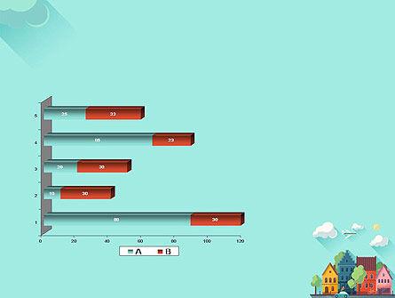 Town Illustration PowerPoint Template Slide 11
