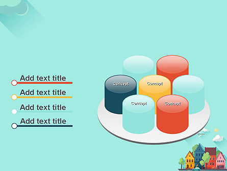 Town Illustration PowerPoint Template Slide 12