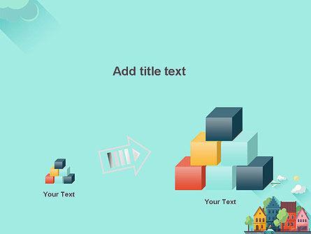 Town Illustration PowerPoint Template Slide 13