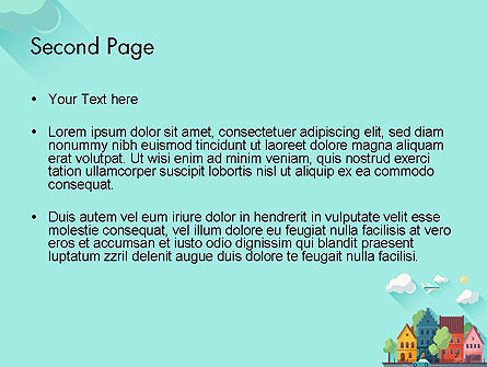 Town Illustration PowerPoint Template Slide 2