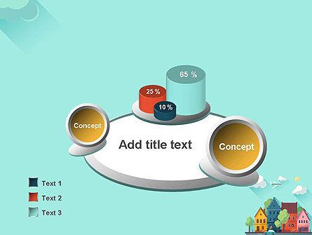 Town Illustration PowerPoint Template Slide 6