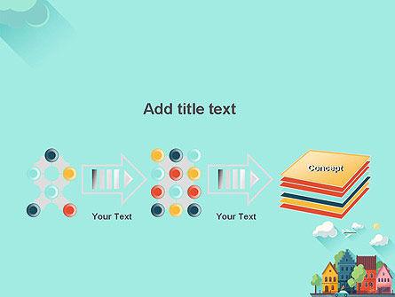 Town Illustration PowerPoint Template Slide 9