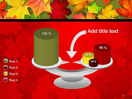 Red and Yellow Autumn Leaves PowerPoint Template Slide 10