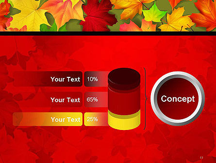 Red and Yellow Autumn Leaves PowerPoint Template Slide 11