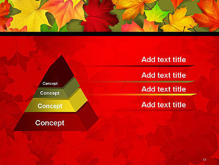 Red and Yellow Autumn Leaves PowerPoint Template Slide 12