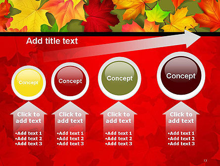 Red and Yellow Autumn Leaves PowerPoint Template Slide 13