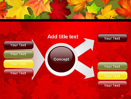 Red and Yellow Autumn Leaves PowerPoint Template Slide 14