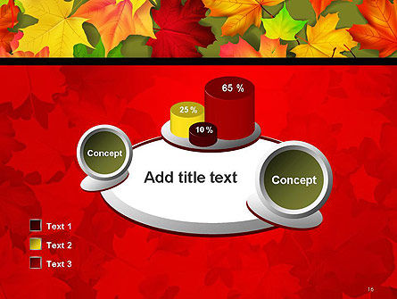 Red and Yellow Autumn Leaves PowerPoint Template Slide 16