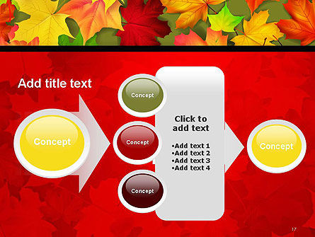 Red and Yellow Autumn Leaves PowerPoint Template Slide 17