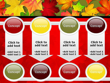 Red and Yellow Autumn Leaves PowerPoint Template Slide 18