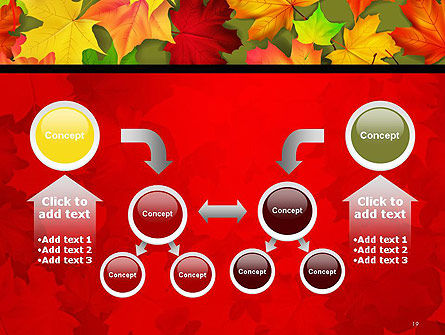 Red and Yellow Autumn Leaves PowerPoint Template Slide 19