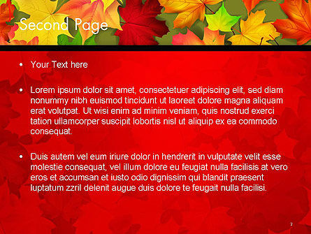 Red and Yellow Autumn Leaves PowerPoint Template Slide 2