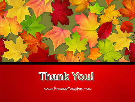 Red and Yellow Autumn Leaves PowerPoint Template Slide 20