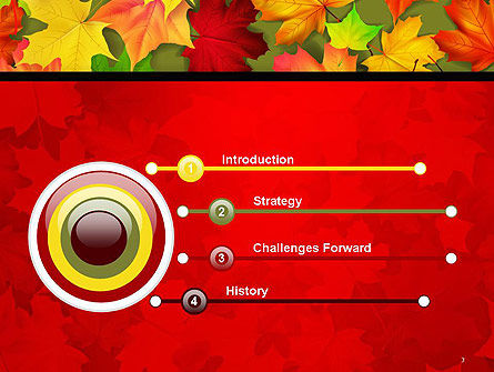 Red and Yellow Autumn Leaves PowerPoint Template Slide 3