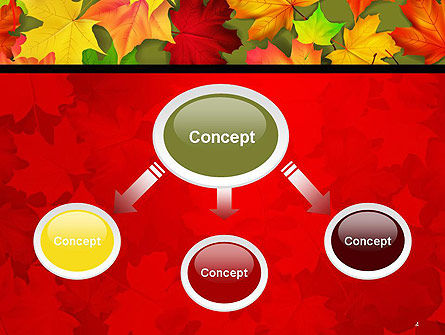 Red and Yellow Autumn Leaves PowerPoint Template Slide 4