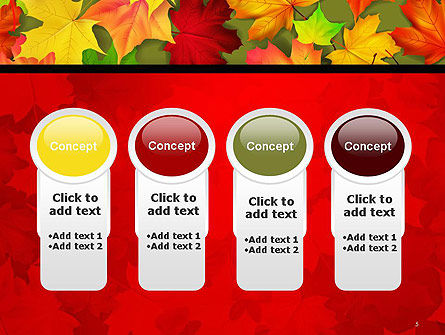 Red and Yellow Autumn Leaves PowerPoint Template Slide 5