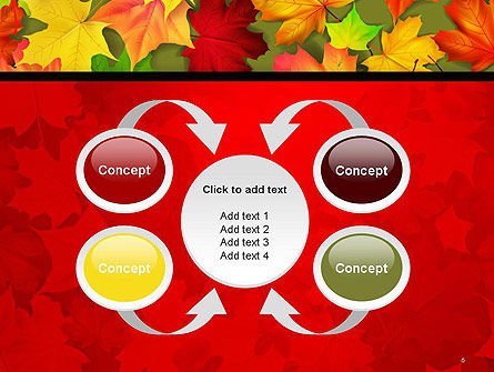 Red and Yellow Autumn Leaves PowerPoint Template Slide 6