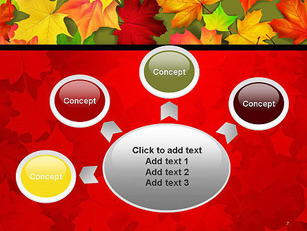 Red and Yellow Autumn Leaves PowerPoint Template Slide 7