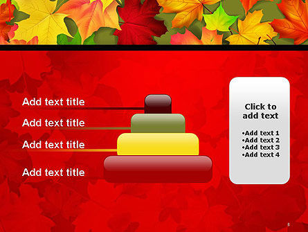 Red and Yellow Autumn Leaves PowerPoint Template Slide 8