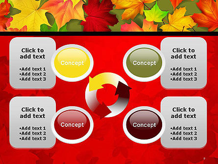 Red and Yellow Autumn Leaves PowerPoint Template Slide 9