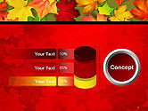 Red and Yellow Autumn Leaves PowerPoint Template#11