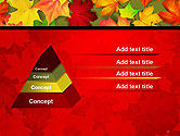 Red and Yellow Autumn Leaves PowerPoint Template#12