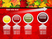 Red and Yellow Autumn Leaves PowerPoint Template#13