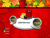 Red and Yellow Autumn Leaves PowerPoint Template#16