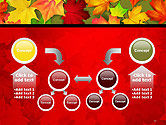 Red and Yellow Autumn Leaves PowerPoint Template#19