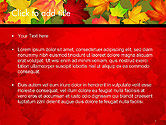 Red and Yellow Autumn Leaves PowerPoint Template#2