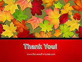 Red and Yellow Autumn Leaves PowerPoint Template#20