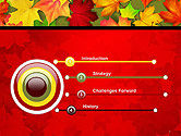 Red and Yellow Autumn Leaves PowerPoint Template#3