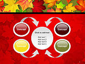 Red and Yellow Autumn Leaves PowerPoint Template#6