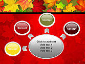 Red and Yellow Autumn Leaves PowerPoint Template#7