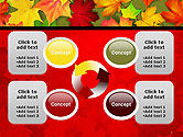 Red and Yellow Autumn Leaves PowerPoint Template#9