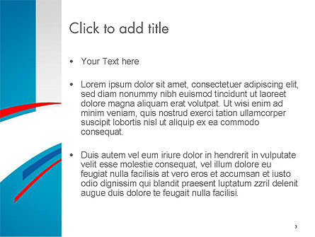 Blue, White and Red Curve Shapes PowerPoint Temaplte, Slide 3, 14288, Business — PoweredTemplate.com