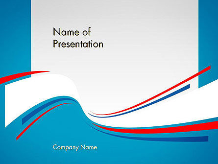 Blue White and Red Curve Shapes PowerPoint Temaplte