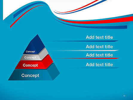 Blue White and Red Curve Shapes PowerPoint Temaplte Slide 10