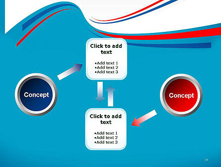 Blue White and Red Curve Shapes PowerPoint Temaplte Slide 19