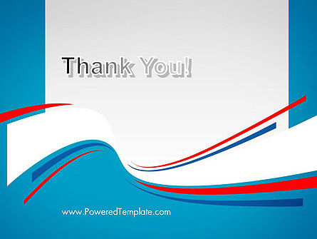 Blue White and Red Curve Shapes PowerPoint Temaplte Slide 20